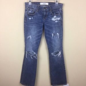 Abercrombie & Fitch Emma Distressed Boot Cut Jeans